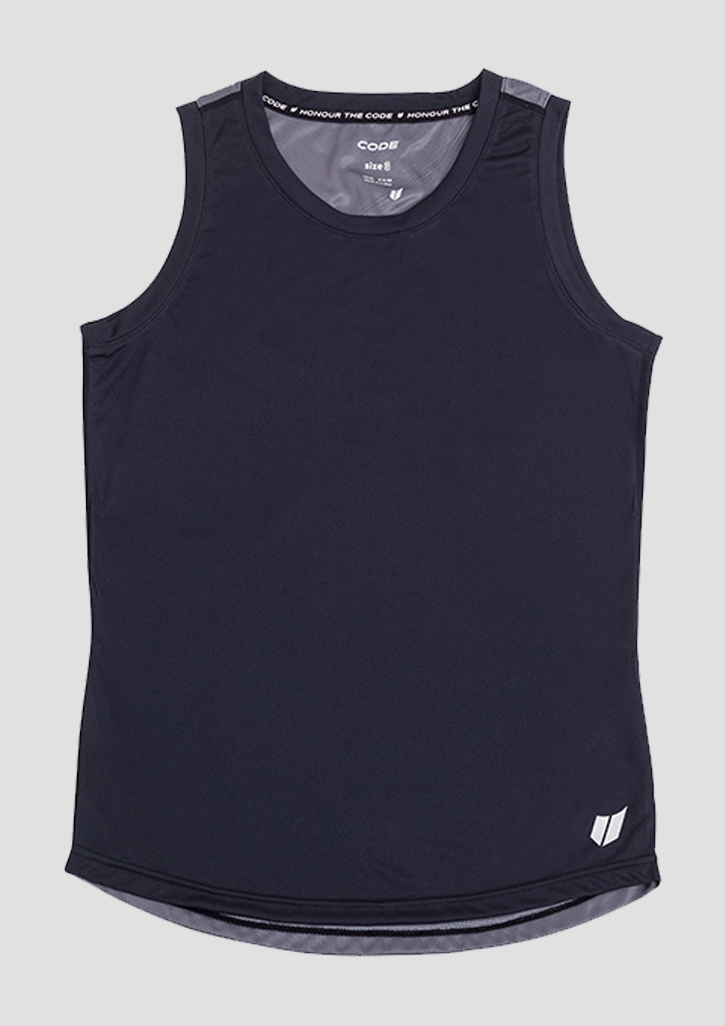 Code Everyday Ladies Training Singlet Black/Charcoal 10